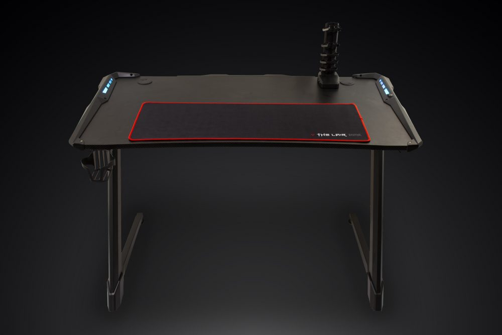 Villain Gaming THE LAIR Gaming Desk Front View