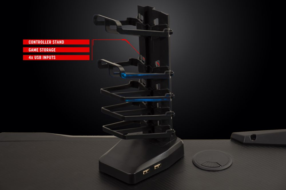 Villain Gaming THE LAIR Gaming Desk Controller Stand